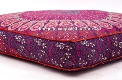 El arte box-indian Mandala suelo almohada cuadrada sofá ...
