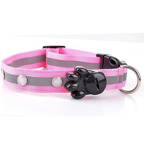 (Hpapadks Light with Gemstones Pet Collar, Flashing Glow Gem Light LED Pet Dog Collar Adjustable Luminous Cheap Dog)