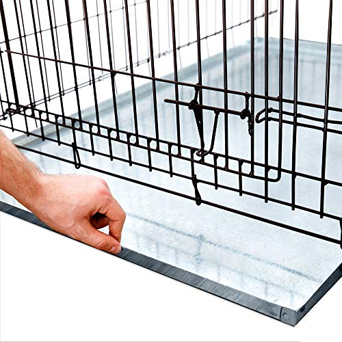 KOPEKS - Heavy Duty Multipurpose Replacement Metal Tray - Galvanized - Rust & Crack Proof - Several for Pet Crates, Grease Trap and Others (41 x 27 Inches, Metal Tray)