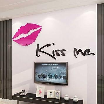 Loterong Romantische Acryl 3D Wall Sticker, Schlafzimmer, Bett, Warme  Dekoration, Wanddekoration,