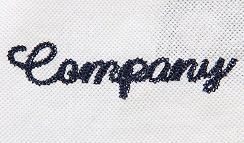 (SGL Collection) ポロシャツ メンズ 半袖 ワッペン 刺繍 デザイン スリムフィット 薄手 バイカラー スキッパー 7色選択 大きい サイズ あり S ~ XXXL 【 日本向け オリジナル サイズ仕様 】