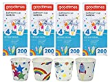 Goodtimes Bathroom Cups, 3 oz 200 ea, Assorted designs (4, Childrens)