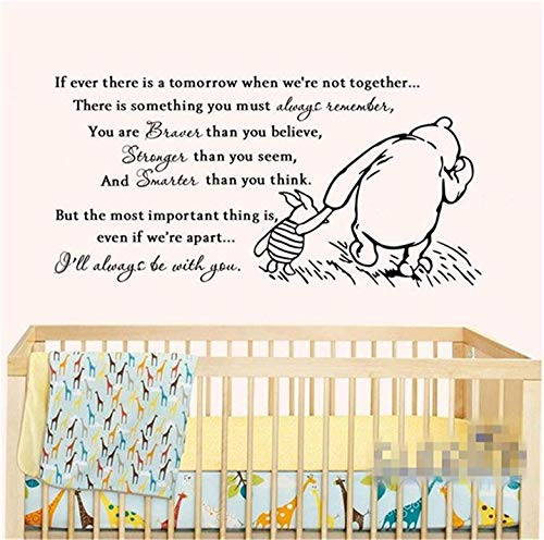 FSDS Classic Vinyl Pooh If There is Still A Wall Sticker Baby Tomorrow Wall Sticker Bedroom Children's Room Child