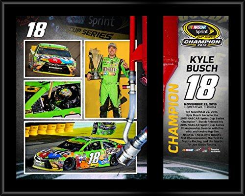 Kyle Busch Driver (Kyle Busch 2015 Sprint Cup Champion 12'' x 15'' Sublimated Plaque - Fanatics Authentic Certified - NASCAR Driver Plaques and Collages)