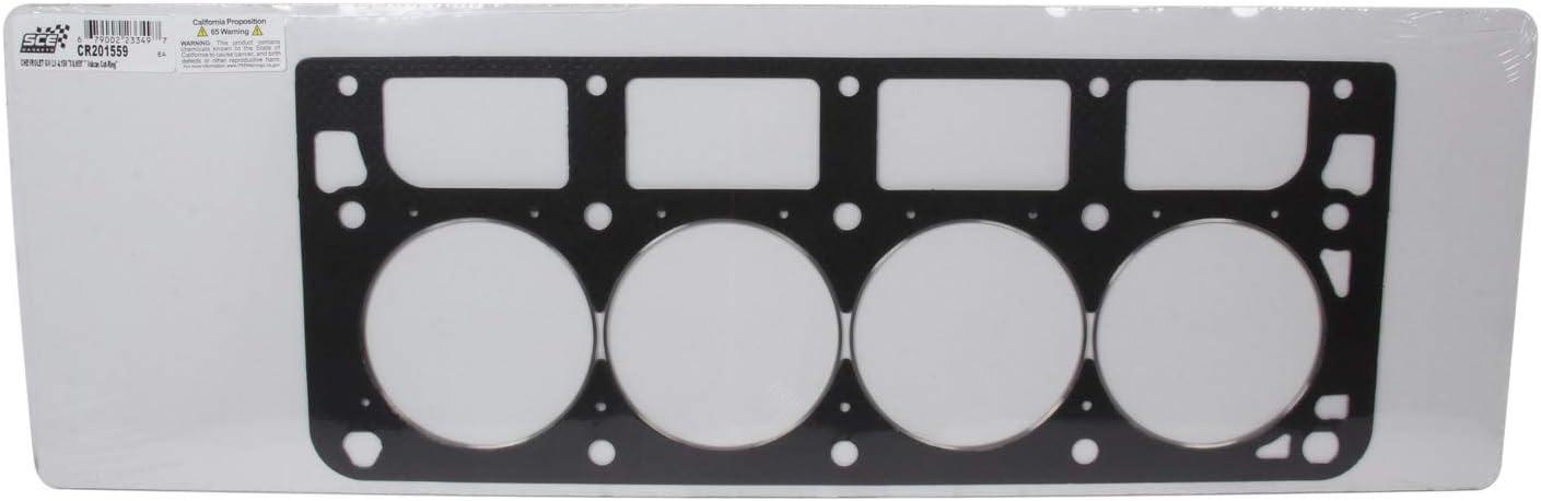 """SCE Cylinder Head Gasket CR190559R; Vulcan Cut-Ring .059/"""" x 4.056/"""" for LS RH"""