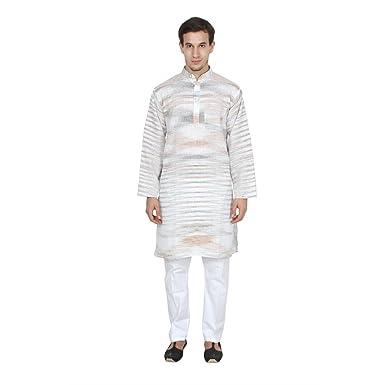 ccf6273c98 Amazon.com: FOCIL Festival Season Special Men's Khadi Kurta Pyjama ...