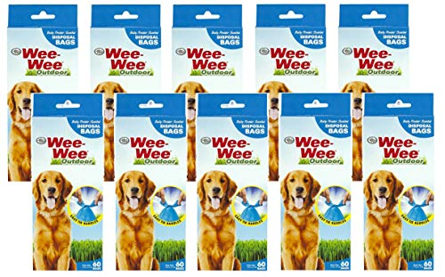(600 Count Four Paws Doggie Doo Waste Bags (10 Packages with 60 Bags Each))