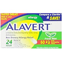 Alavert Od Tab, Fresh Mint Flavor, 48+12 Count Box (Pack of 3)