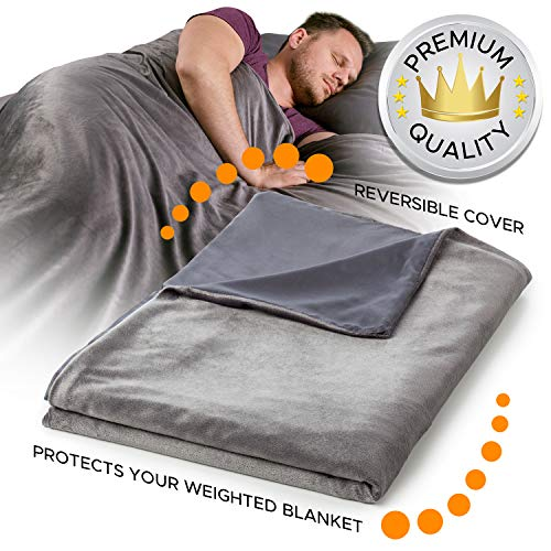 Snuggle Pro Reversible Bamboo & Minky Duvet Cover for Weighted Blanket - 48''x72'' Twin Size/Full Bed Weighted Blanket Cover