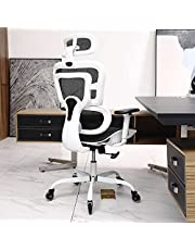 Ergonomic Office Chair, KERDOM Breathable Mesh Desk Chair, Lumbar Support Computer Chair with Flip-up Arms, Swivel Task Chair, Adjustable Height Home Gaming Chair