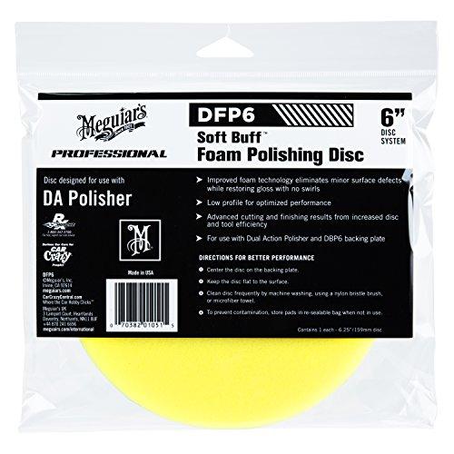 Meguiar S Dfp6 6 Quot Da Foam Polishing Disc Automotive