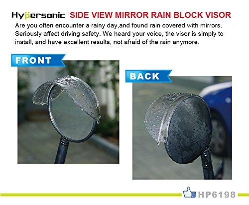 Hypersonic Car Side Mirror Rain Eyebrow Rainproof Blade Sun Shade Cover Brown 2PCS