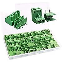 RUNCCI-YUN 5.08 mm Pitch 4 Pin 2 Pin Enchufe Tornillo PCB Bloque De Terminales Conector Derecho ángulo (40 pcs, 20 pairs…