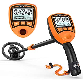 TACKLIFE Metal Detector Mainly for Kids with Large Back-lit LCD Display, Easy to Operate for Kids, Lightweight & Waterproof Coil for Treasure Hunting, ...