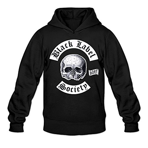 Black Label Society Logo Boys.boys' Black Outwear Hooded Sweatshirt