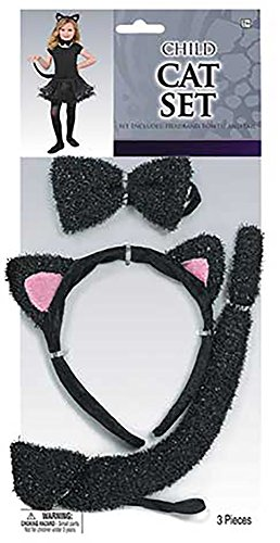 Cat Girl Costume Child Uk (Amscan Girls Halloween Costume Accessory Set - Cat)