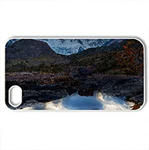 fantastic rock pool - For Apple Iphone 5/5S Case Cover (Mountains Series, Watercolor style, White)