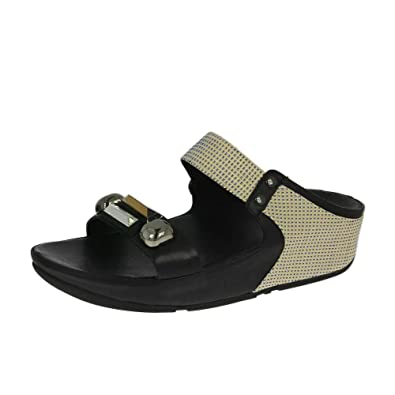 e0073c64e013 FitFlop Jeweley Slide Sandals All Black UK6.5 Black  Amazon.co.uk ...