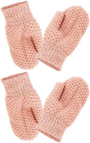 HEALLILY 4 Stuks Exfolirende Handschoenen Bodyscrubbers Badhandschoenen Douchescrubber Dode Huidcelverwijderaar Badhandschoenen Scrubs Voor Douchebadreiniging Verwijderen Dode Huid