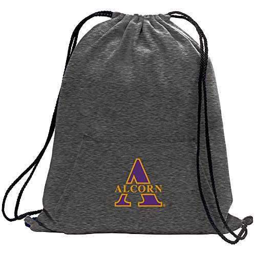 Promoversity NCAA Alcorn State Braves Adult Sweatshirt Cinch Bag,17.75'' x 14.5'',Dark Heather by Promoversity