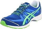 ASICS Men's GEL-DS Racer 9 Running Shoe,Blue/Neon Green/White,11.5 M US