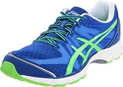 ASICS Men's GEL-DS Racer 9 Running Shoe,Blue/Neon Green/White,11 M US