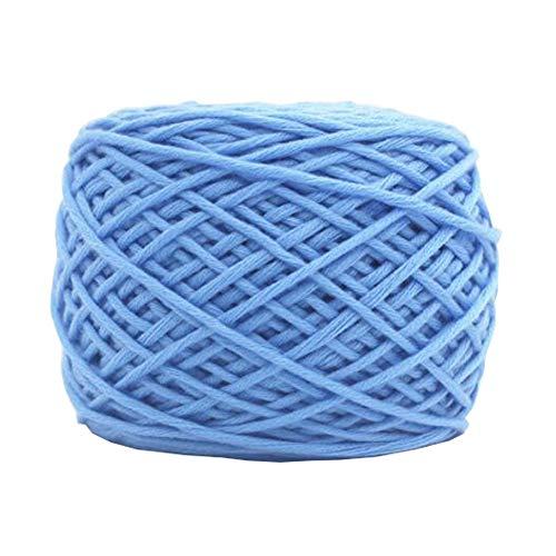 Chinashow 14 oz Classic Soft Yarn Milk Cotton Yarn for Crochet, Knitting and Crafting Sky -