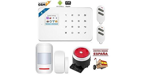 NOVEDAD 2018 Kit alarma V-18 inalámbrica GSM y WiFi para ...