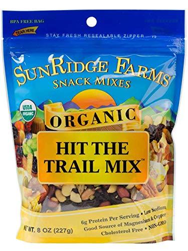 - SunRidge Farms Organic Hit The Trail Mix NonGMO Verified, 8 Ounce Bag (Pack of 12)