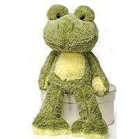 "Fiesta Toys Fuzzy Folk Bean Bag 16"" Frog Ivy Animal Plush"