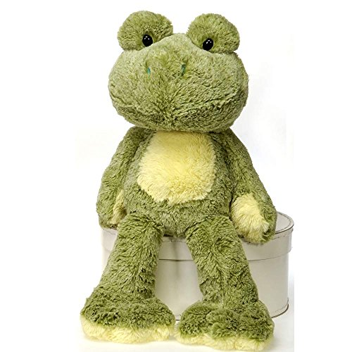 Fiesta Toys Fuzzy Folk: Sitting Frog Plush Stuffed Animal Toy - 16 Inches (Fiesta Plush)