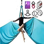 Aerial Silks Deluxe Equipment Set for Aerial Yoga, Aerial Yoga Hammock, Aerial Acrobatic,Circus Arts, Aerial D