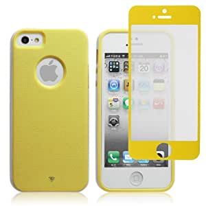 "Chromo Inc. ""Splash of Color"" Series TM For iPhone 5 + Matching Colored Screen Protector - Yellow"