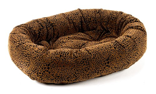 Bowsers Donut Dog Bed, Microvelvet Urban Animal, Medium 35″ For Sale