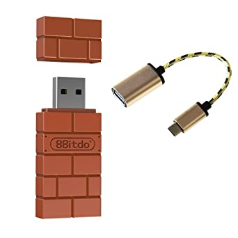 YIKESHU 8Bitdo Wireless Bluetooth Adapter for Windows, Mac, Raspberry Pi &  Nintendo Switch,Android TV box