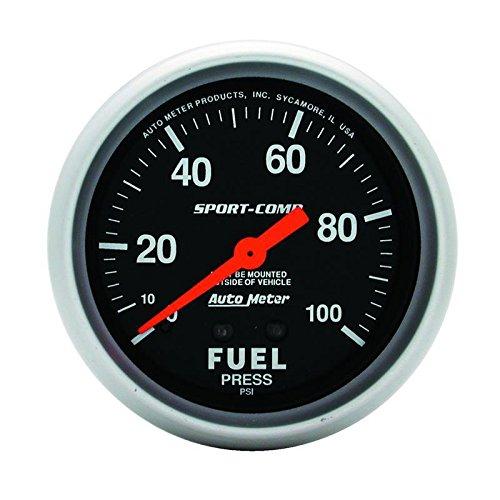 Autometer 3412 2-5/8 FUEL PRESS, 0-100 PSI, NO TUBING, MECH