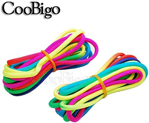 31M Available in 10ft 20ft 50ft 101ft 328ft 101ft Colorful Rainbow Paracord Cord Rope Type III 7 Strand Parachute 550 Cord Bracelet