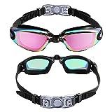 Aegend Swim Goggles, 2 Pack Swimming Goggles No