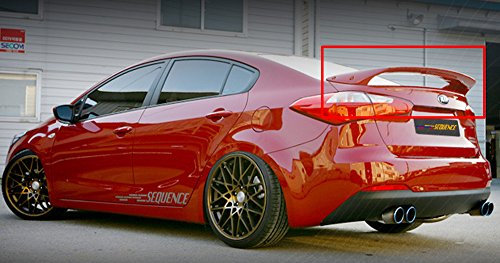 Sequence Rear Trunk SPEC-GT Spoiler UNPAINTED For 2012 2013 Kia Cerato/ K3 - Gt Spec Trunk