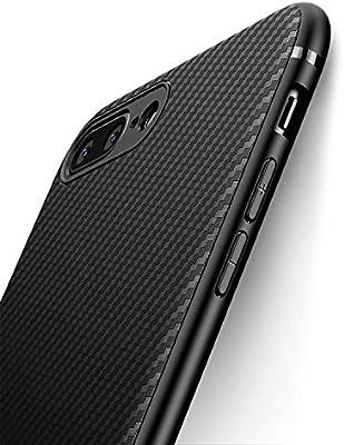 J Jecent Funda iPhone 8 Plus Funda iPhone 7 Plus [Textura Fibra de ...