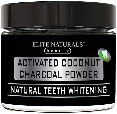 All Natural Teeth Whitening Charcoal Powder - Organic Coconut Activated Charcoal - Safe Effective Tooth Whitener Solution, More Effective than Strips, Kit, Gel & Whitening Toothpaste