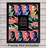 Martin Luther King Jr. Wall Art Print - Unframed Pop Art - Perfect Home Decor - Great Educational Gift for Schools and Teachers - MLK Inspirational and Motivational - Ready to Frame Photo (8X10)