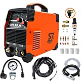 Plasma Cutter, 50A Inverter AC-DC IGBT Dual Voltage (110/220V) Cut50 Portable Cutting Welding Machine With Intelligent Digital Display With Free Accessories Easy Cutter Welder(Orange)