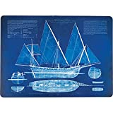 Placemats Table Mats Cork Backed Hard Placemats Wipe Clean Nautical Beach 12'' x 16'' Set of 4