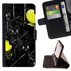 Momo Phone Case / Flip Funda de Cuero Case Cover - Resumen Pac Amarillo - Apple Iphone 4 / 4S