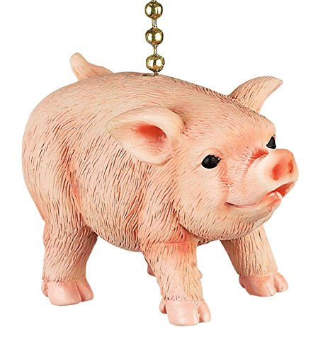 Clementine Designs Farmers Pig Decorative Ceiling Fan Light Dimensional (Decorative Ceiling Sculpture)