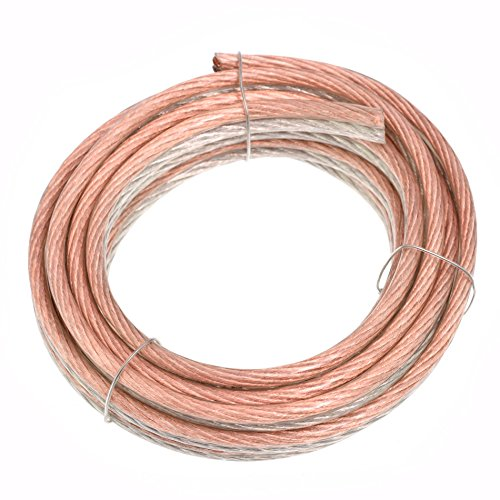 Conext Link PSC8CGS-15 Parallel Gold Silver Speaker Cables Full Gauge Oxygen Free Copper Zip Wire (8 Gauge, 15 ()
