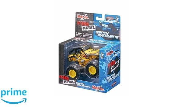 Maisto M21144 Monster Truck Earth Shockers - Camión con Pintura Personalizada y suspensión de Trabajo: Amazon.es: Juguetes y juegos