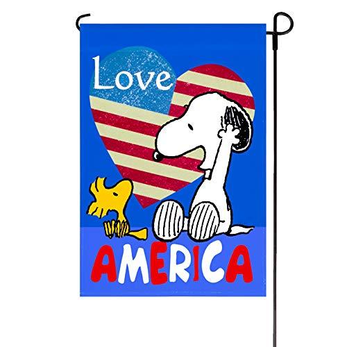 (Patriotic Peanuts Love America Garden Flag 12