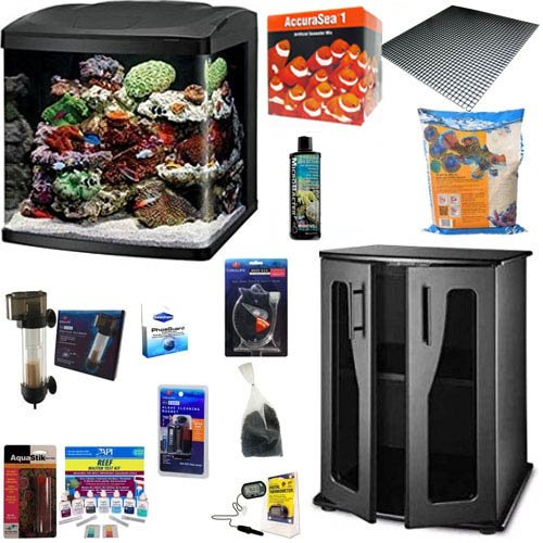 BioCube Coralife Size 32 led Aquarium Complete Reef Package (with New Improved Stand)
